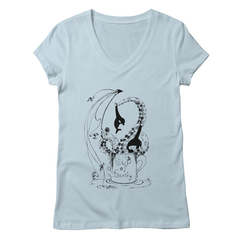 cup n' line Women's V-Neck by cuppadoodle's Artist Shop