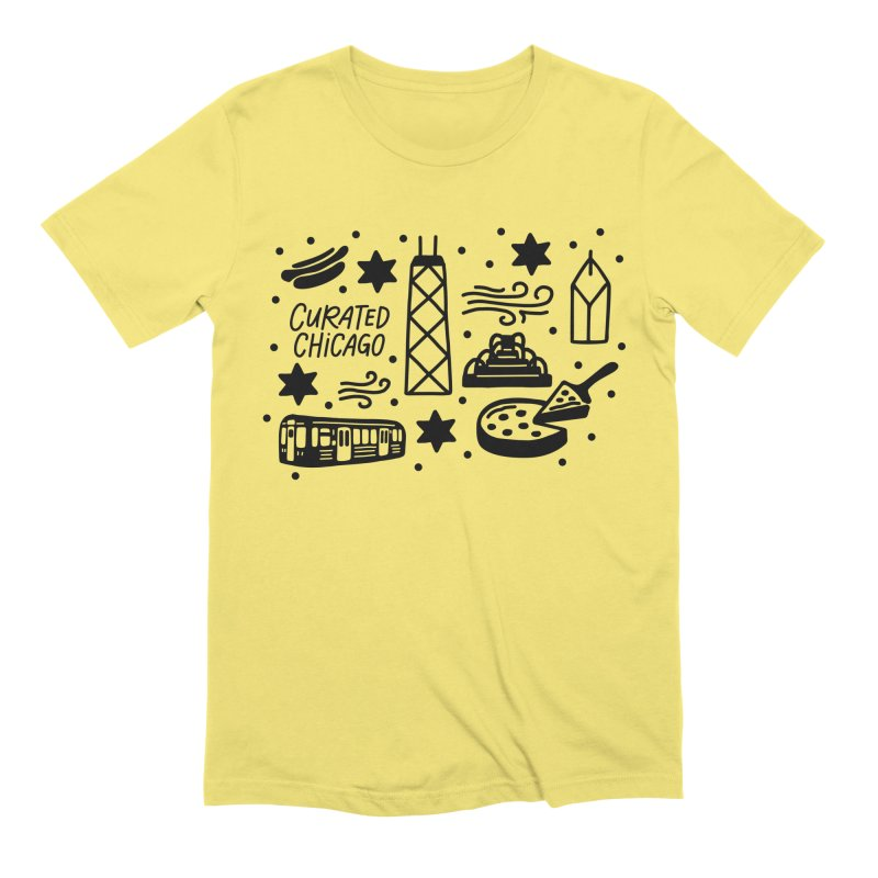 Curated Chicago City Scene black Men's T-Shirt by curatedchicago's Artist Shop
