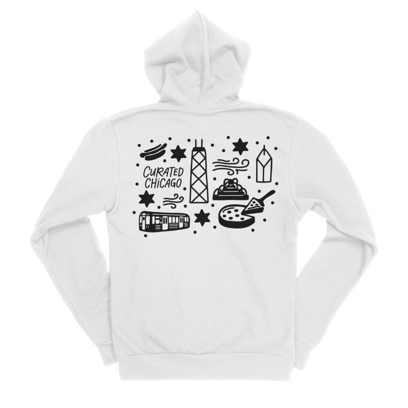 Curated Chicago City Scene black Men's Zip-Up Hoody by curatedchicago's Artist Shop