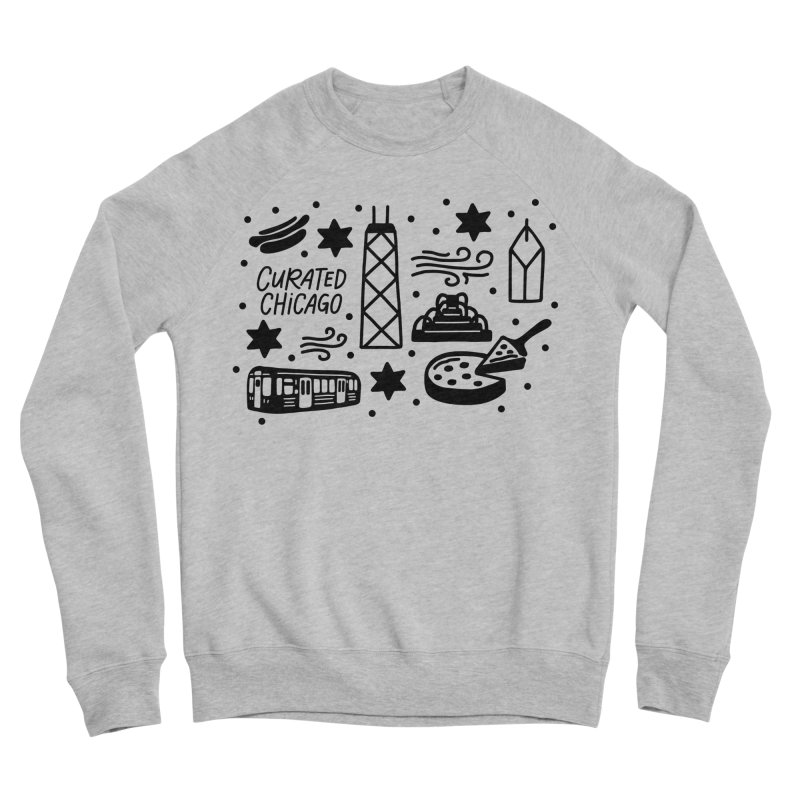 Curated Chicago City Scene black Women's Sweatshirt by curatedchicago's Artist Shop