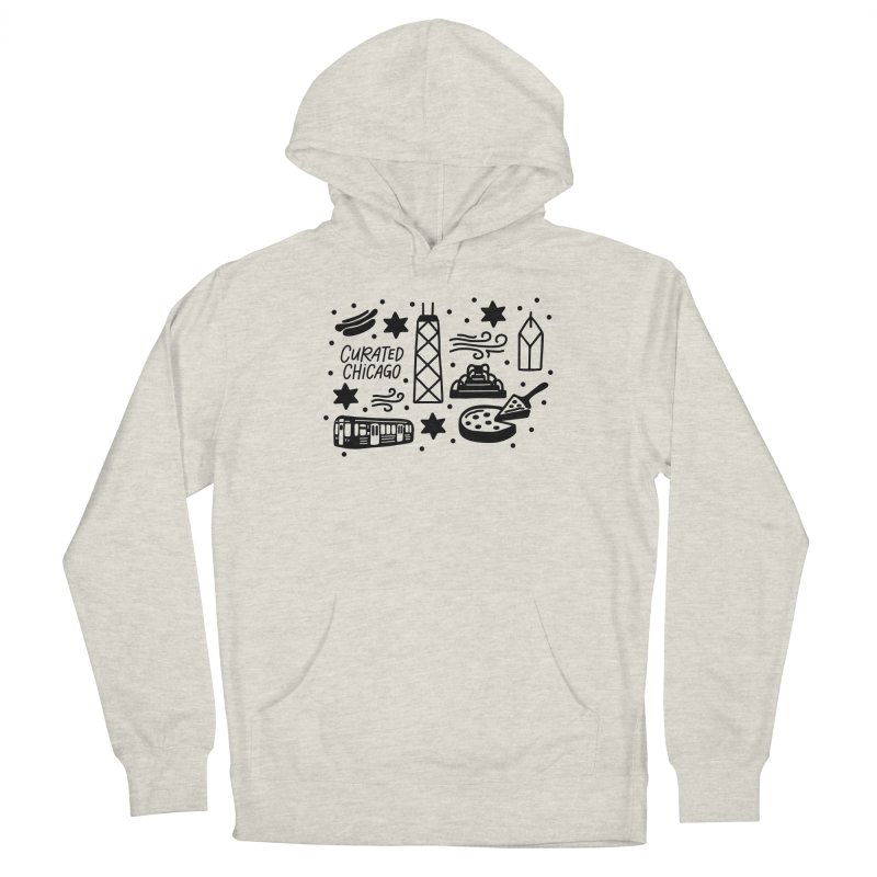 Curated Chicago City Scene black Men's Pullover Hoody by curatedchicago's Artist Shop
