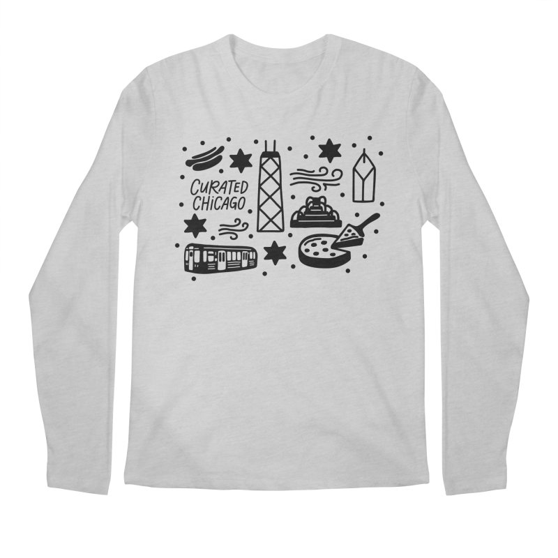 Curated Chicago City Scene black Men's Longsleeve T-Shirt by curatedchicago's Artist Shop