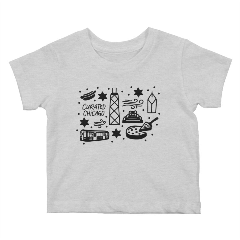 Curated Chicago City Scene black Kids Baby T-Shirt by curatedchicago's Artist Shop