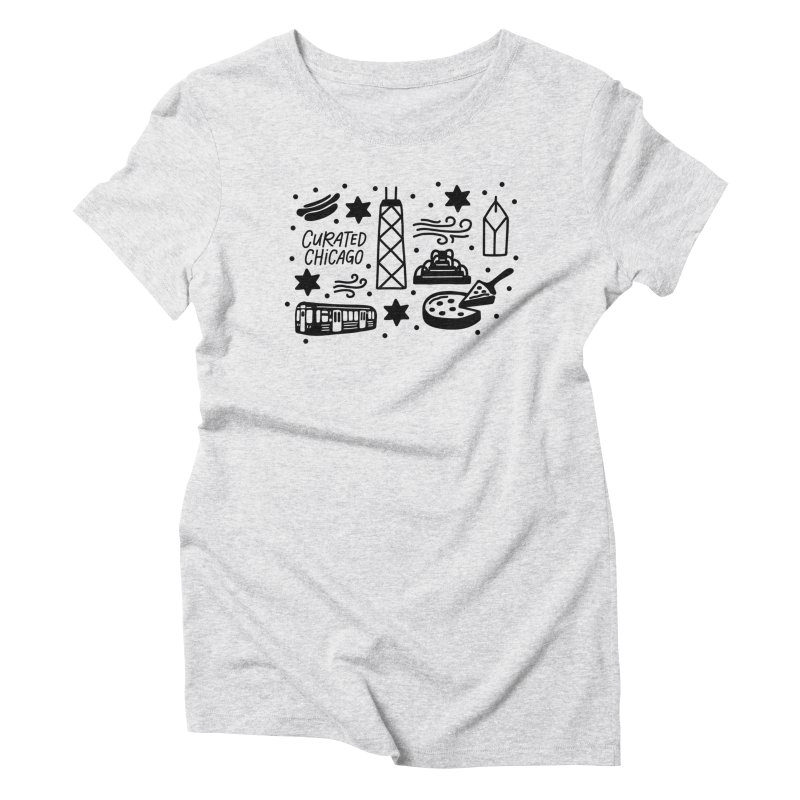 Curated Chicago City Scene black Women's T-Shirt by curatedchicago's Artist Shop