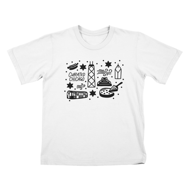 Curated Chicago City Scene black Kids T-Shirt by curatedchicago's Artist Shop