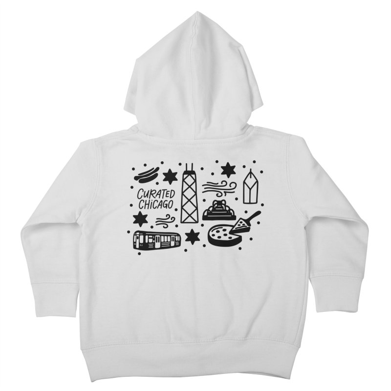 Curated Chicago City Scene black Kids Toddler Zip-Up Hoody by curatedchicago's Artist Shop