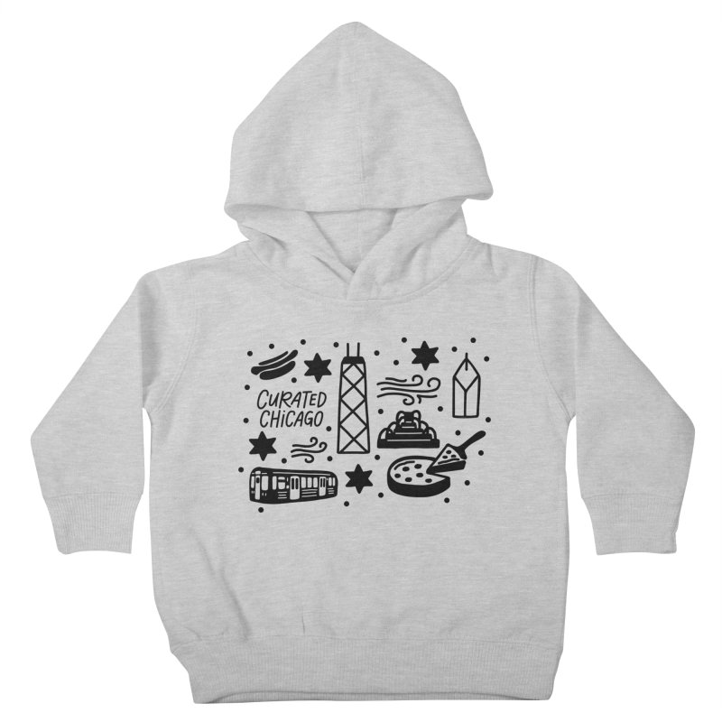 Curated Chicago City Scene black Kids Toddler Pullover Hoody by curatedchicago's Artist Shop