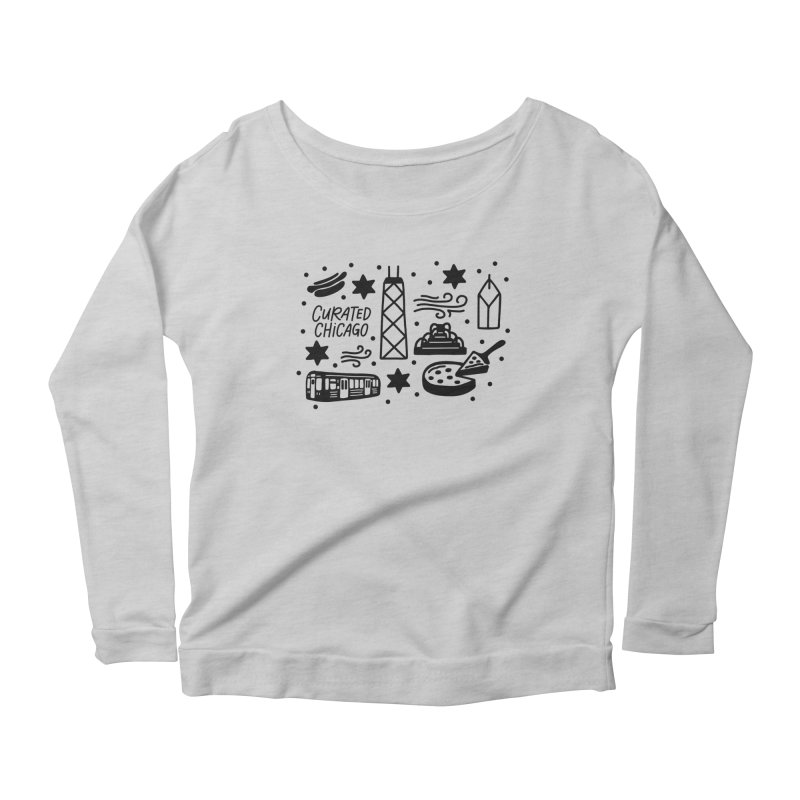 Curated Chicago City Scene black Women's Longsleeve T-Shirt by curatedchicago's Artist Shop