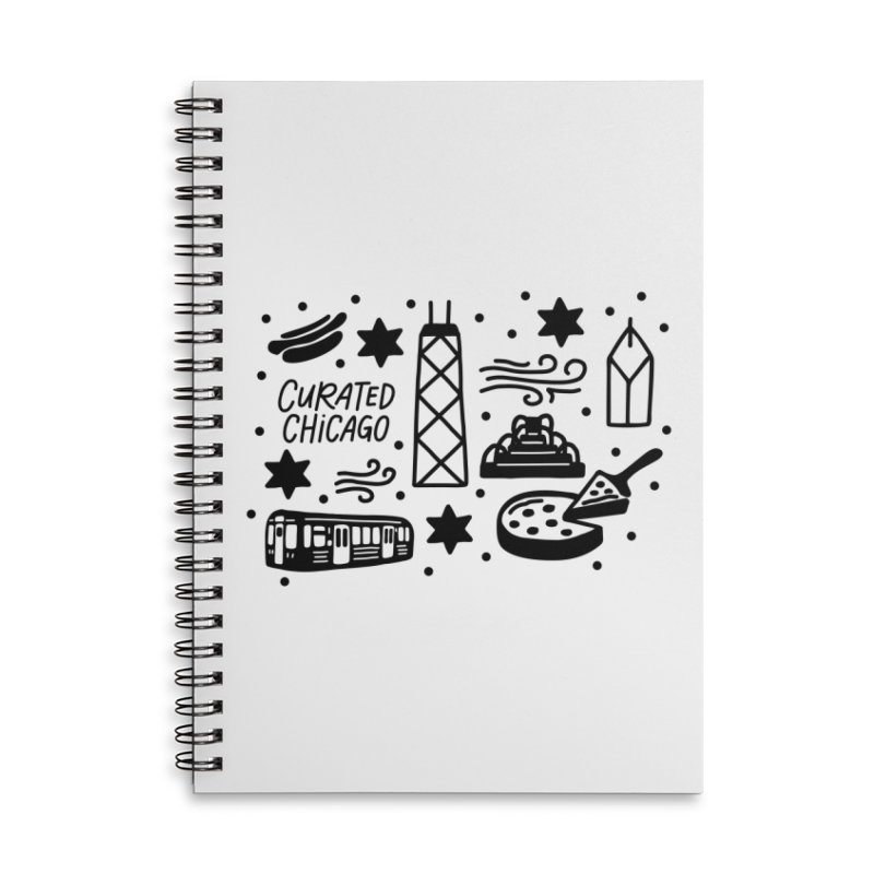 Curated Chicago City Scene black Accessories Notebook by curatedchicago's Artist Shop
