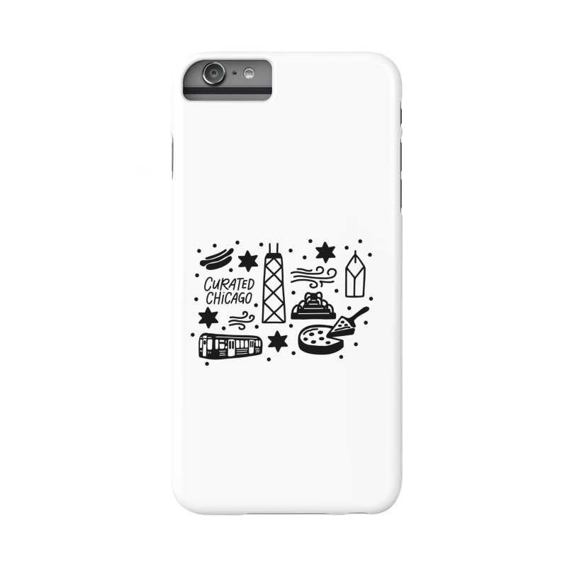 Curated Chicago City Scene black Accessories Phone Case by curatedchicago's Artist Shop