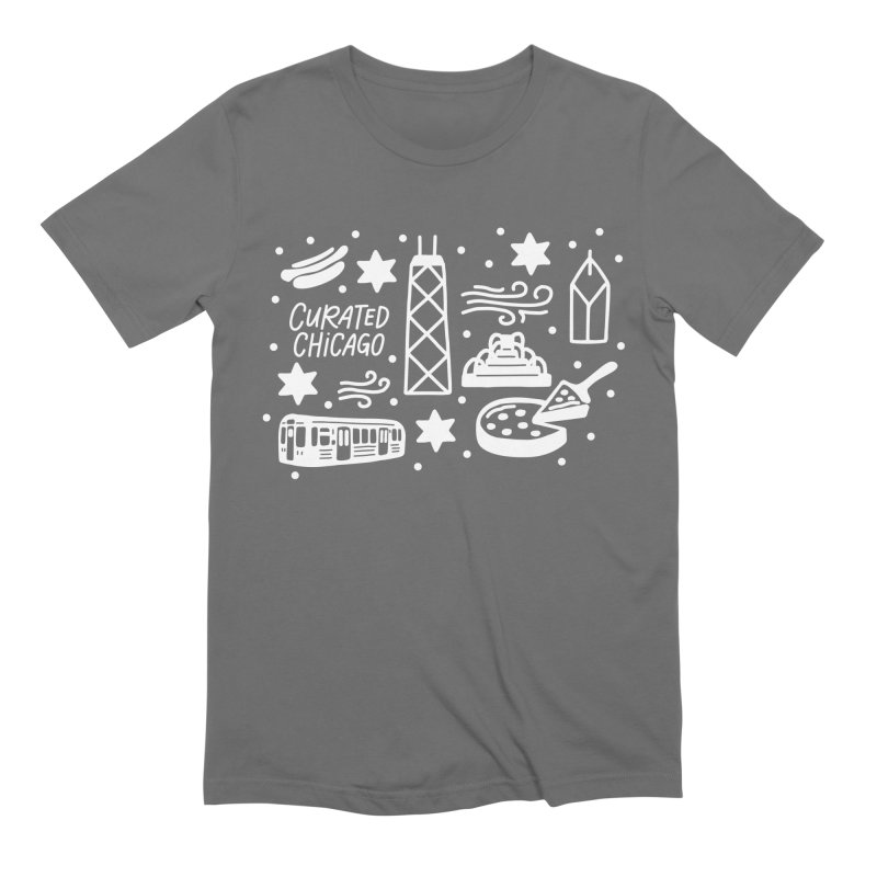 Curated Chicago City Scene white Men's T-Shirt by curatedchicago's Artist Shop