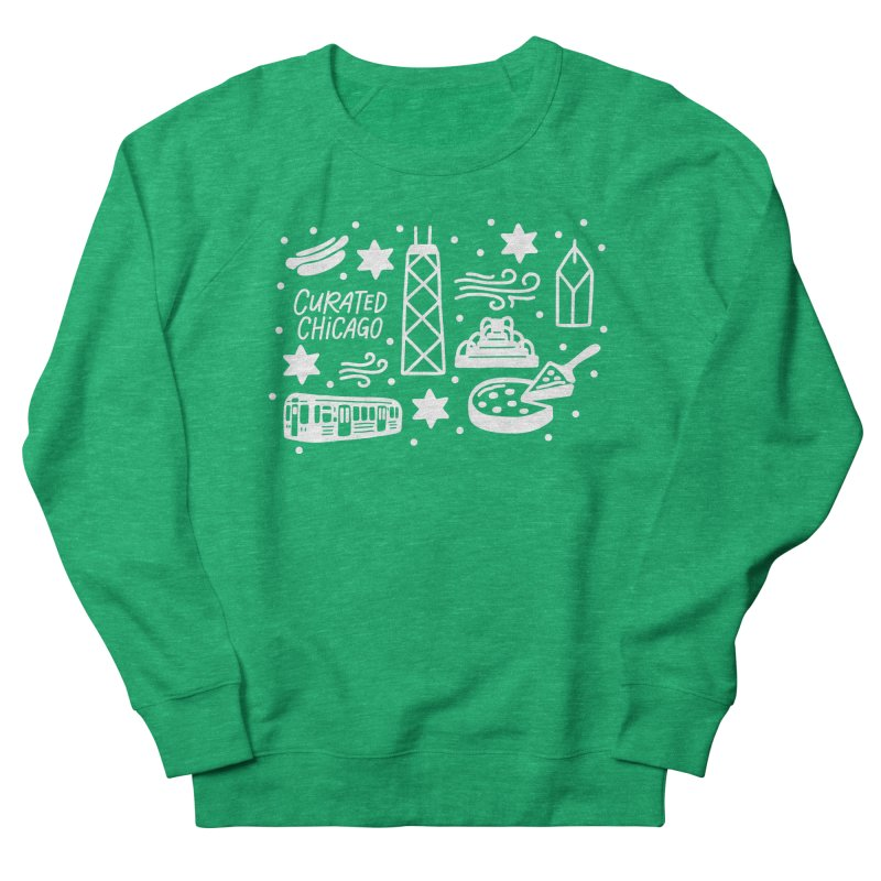 Curated Chicago City Scene white Men's Sweatshirt by curatedchicago's Artist Shop