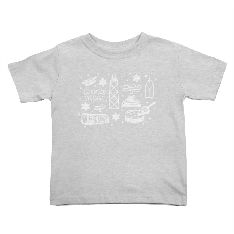 Curated Chicago City Scene white Kids Toddler T-Shirt by curatedchicago's Artist Shop