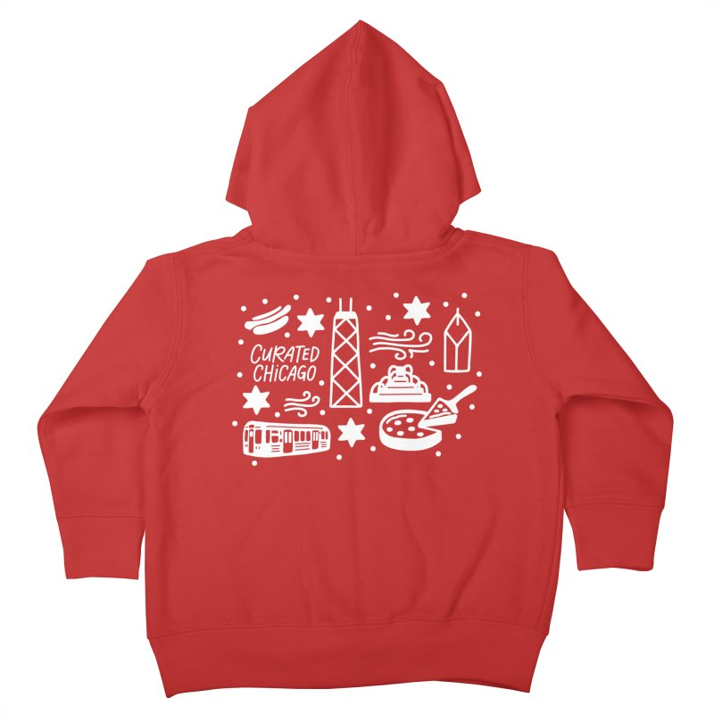 Curated Chicago City Scene white Kids Toddler Zip-Up Hoody by curatedchicago's Artist Shop