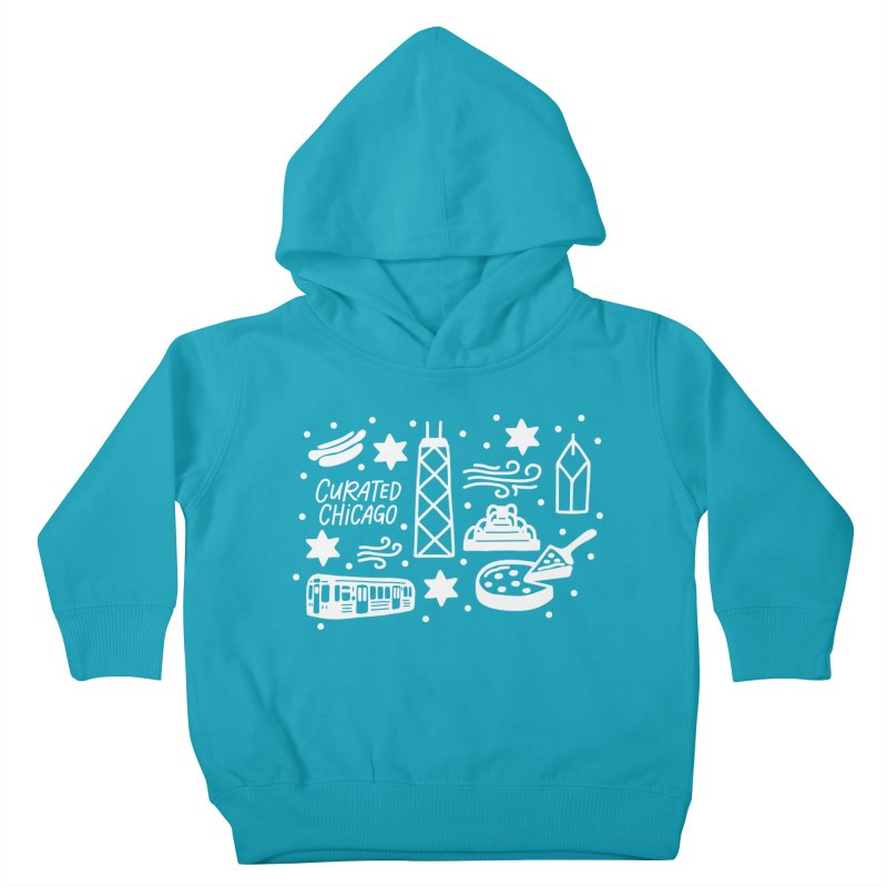 Curated Chicago City Scene white Kids Toddler Pullover Hoody by curatedchicago's Artist Shop
