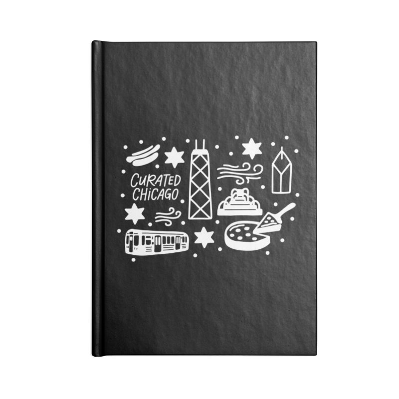 Curated Chicago City Scene white Accessories Notebook by curatedchicago's Artist Shop