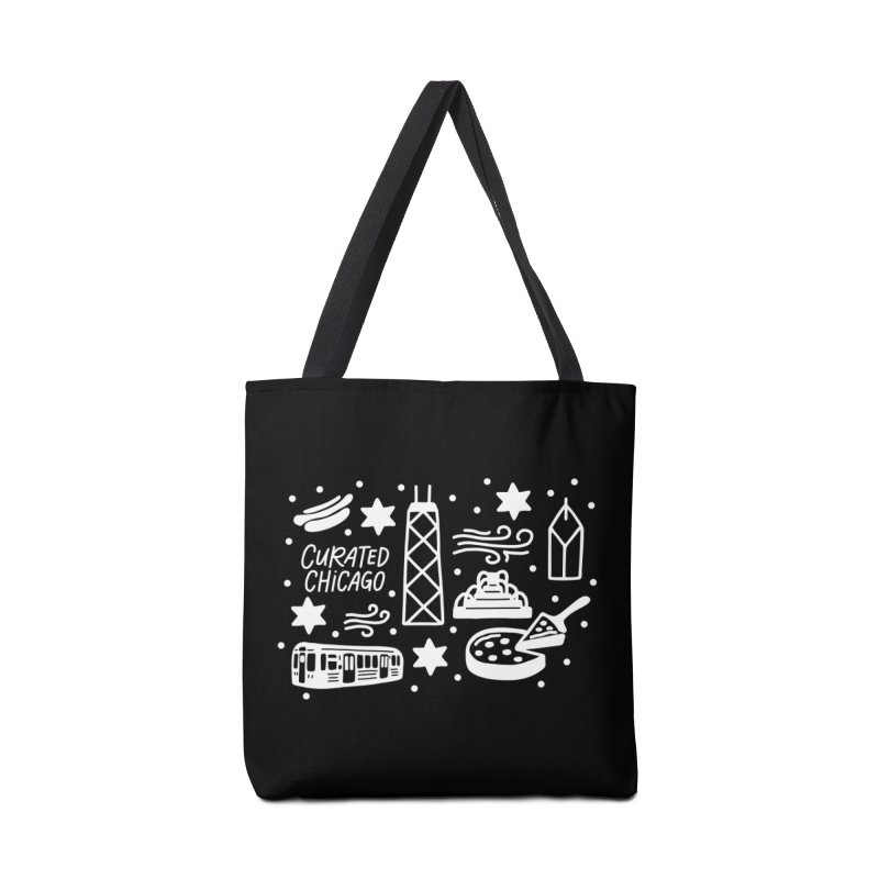 Curated Chicago City Scene white Accessories Bag by curatedchicago's Artist Shop