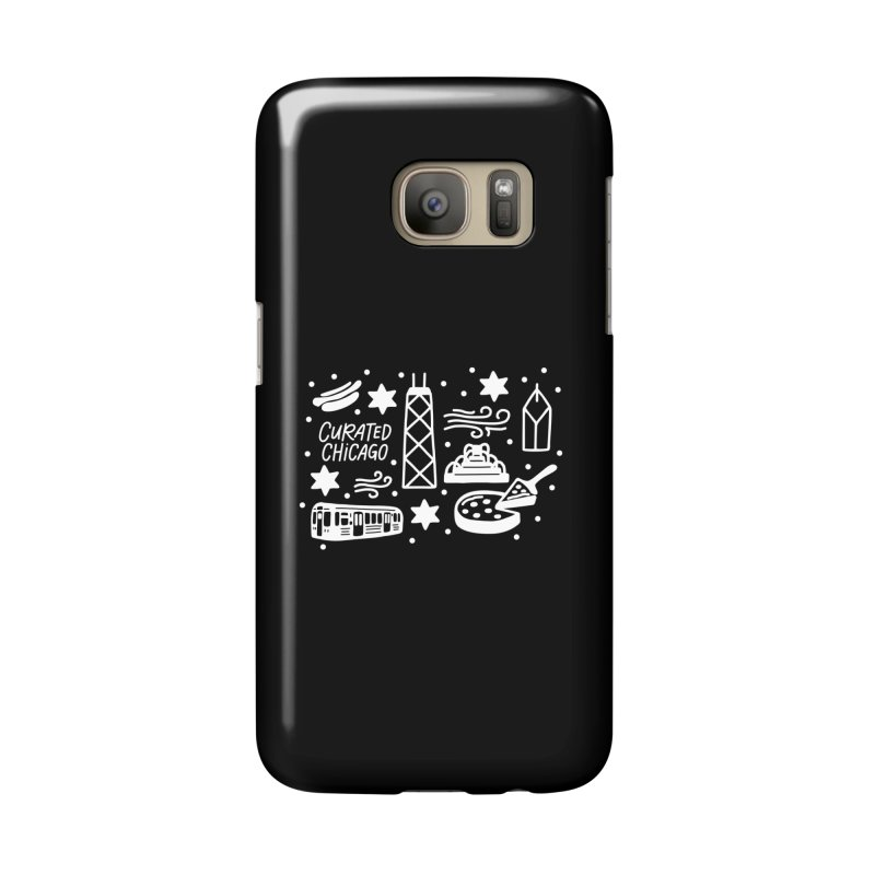 Curated Chicago City Scene white Accessories Phone Case by curatedchicago's Artist Shop