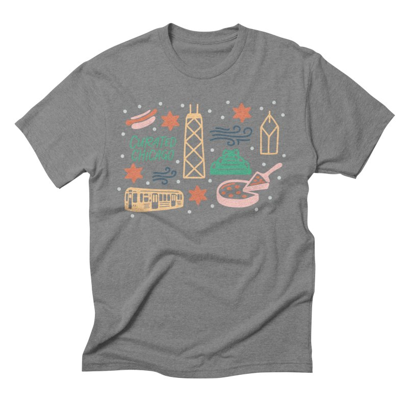 Curated Chicago City Scene color Men's T-Shirt by curatedchicago's Artist Shop