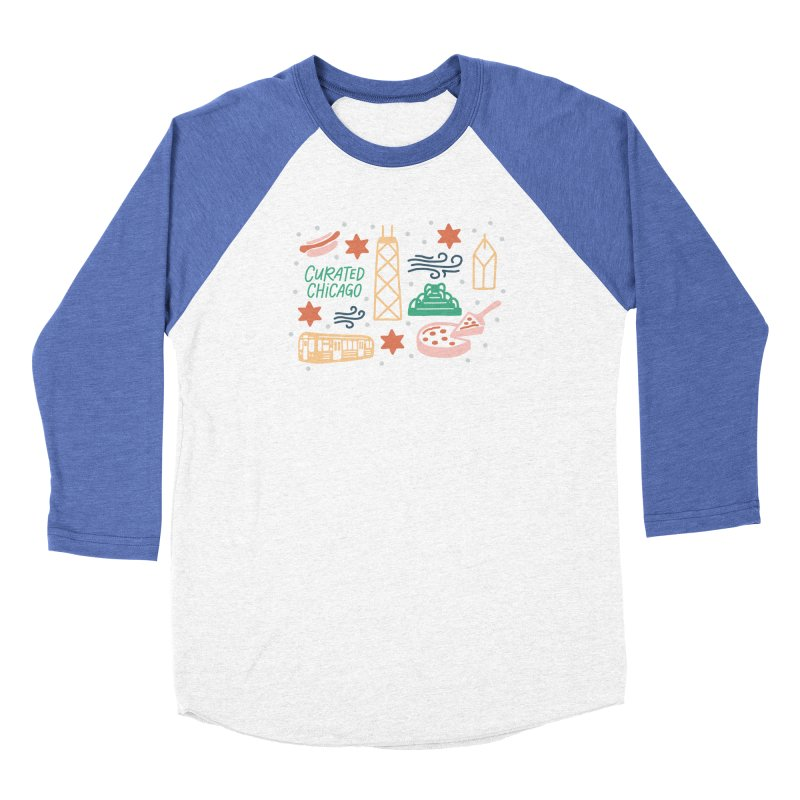 Curated Chicago City Scene color Men's Longsleeve T-Shirt by curatedchicago's Artist Shop