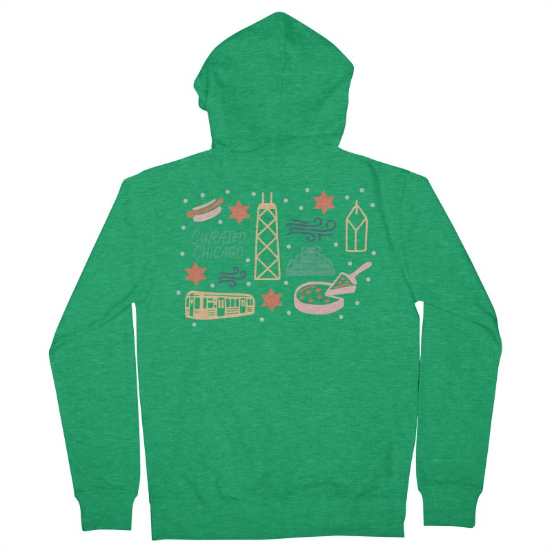Curated Chicago City Scene color Women's Zip-Up Hoody by curatedchicago's Artist Shop