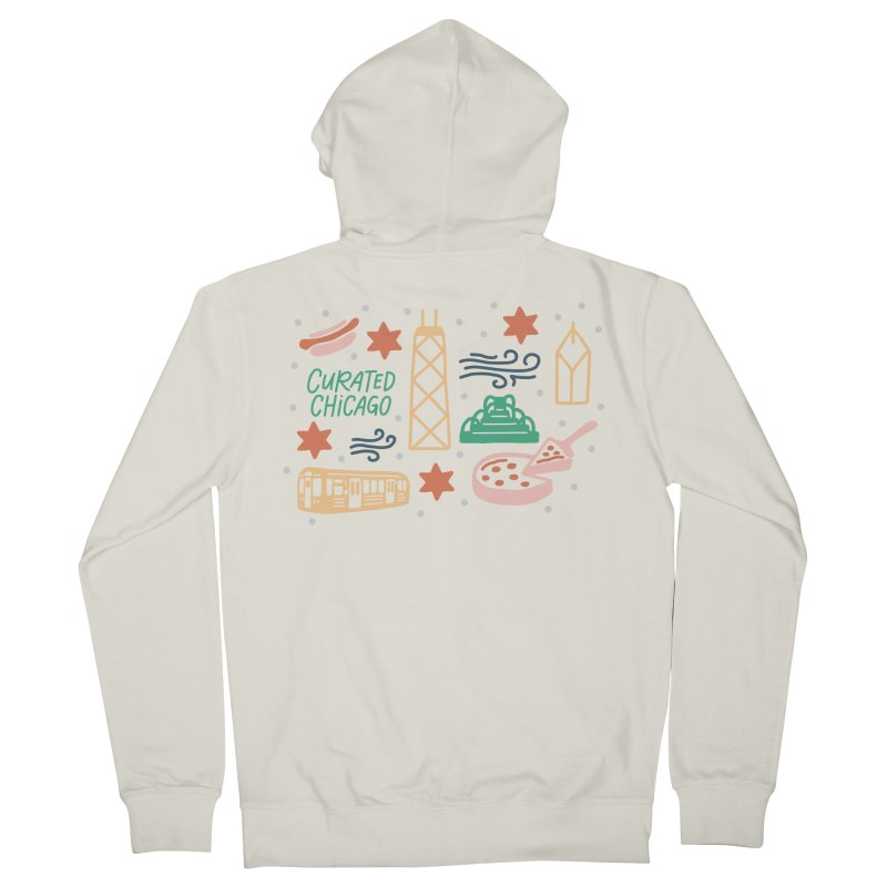 Curated Chicago City Scene color Men's Zip-Up Hoody by curatedchicago's Artist Shop
