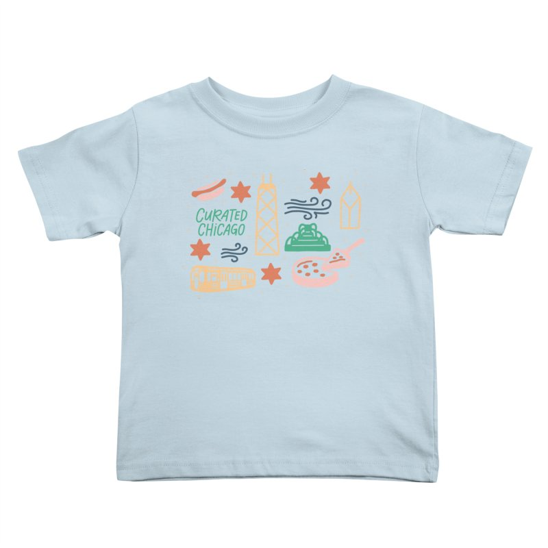 Curated Chicago City Scene color Kids Toddler T-Shirt by curatedchicago's Artist Shop