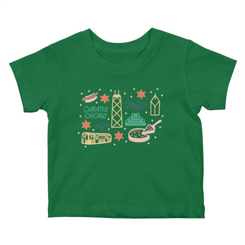 Curated Chicago City Scene color Kids Baby T-Shirt by curatedchicago's Artist Shop