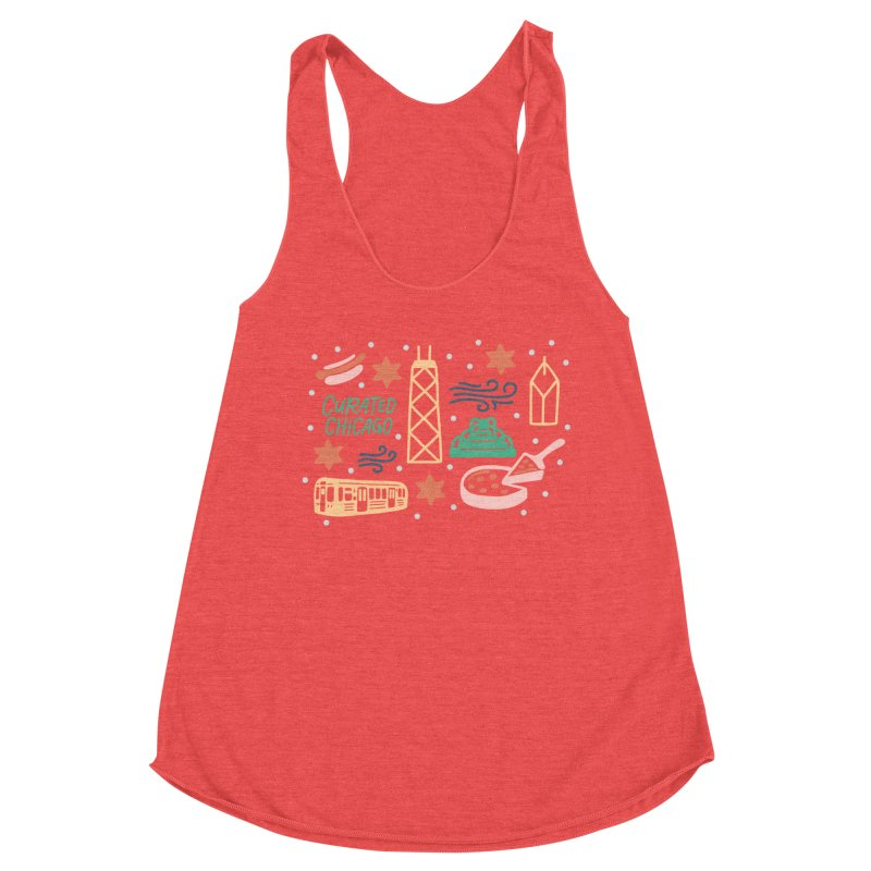 Curated Chicago City Scene color Women's Tank by curatedchicago's Artist Shop