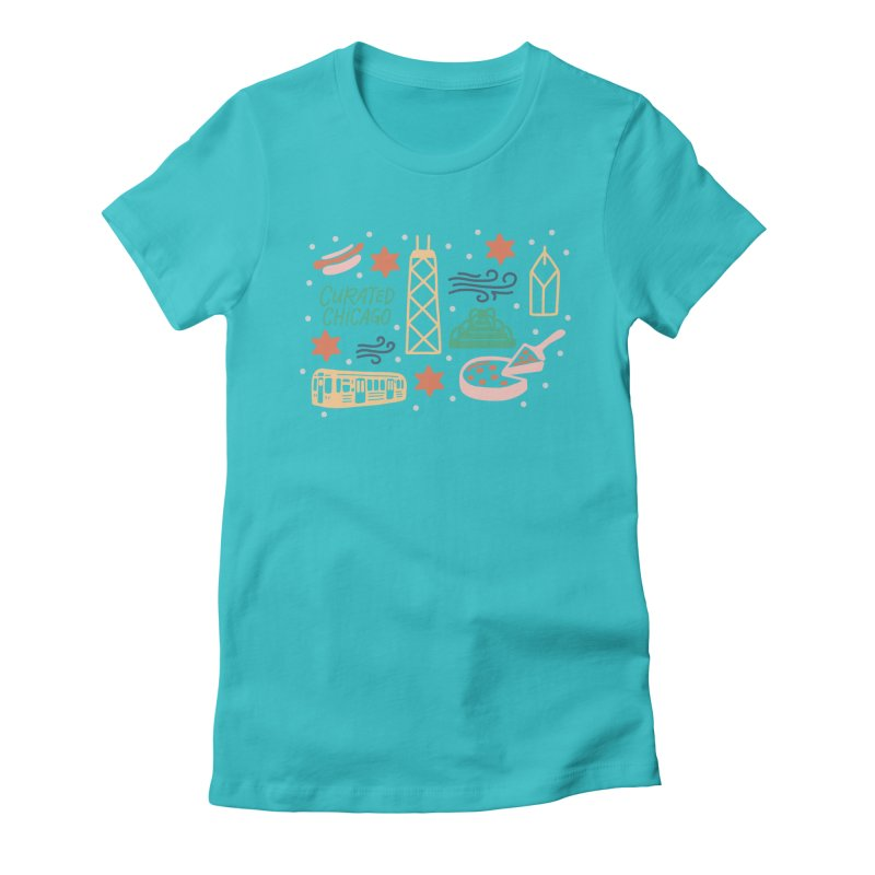 Curated Chicago City Scene color Women's T-Shirt by curatedchicago's Artist Shop