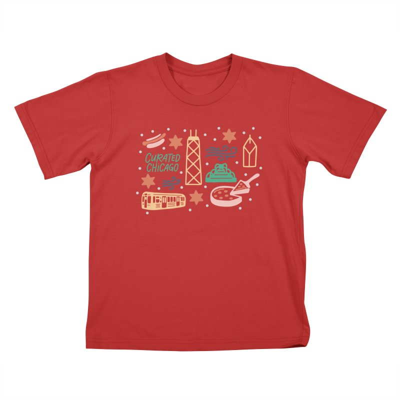Curated Chicago City Scene color Kids T-Shirt by curatedchicago's Artist Shop