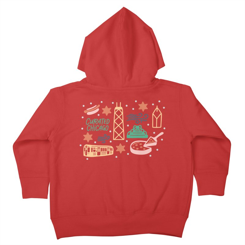 Curated Chicago City Scene color Kids Toddler Zip-Up Hoody by curatedchicago's Artist Shop
