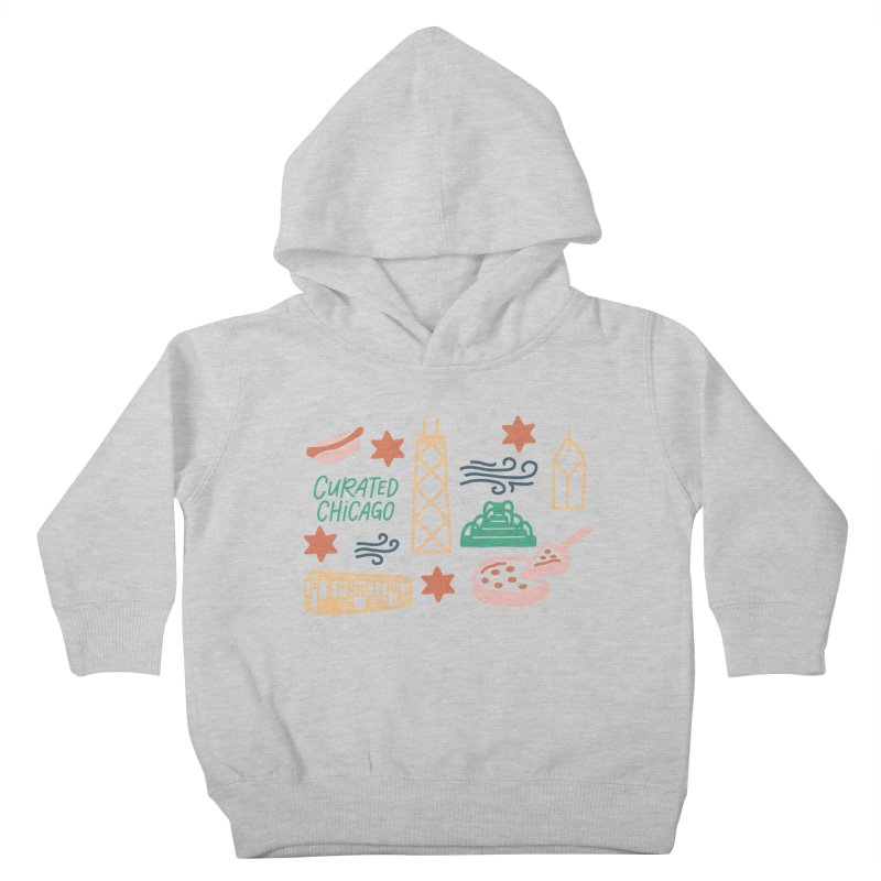 Curated Chicago City Scene color Kids Toddler Pullover Hoody by curatedchicago's Artist Shop