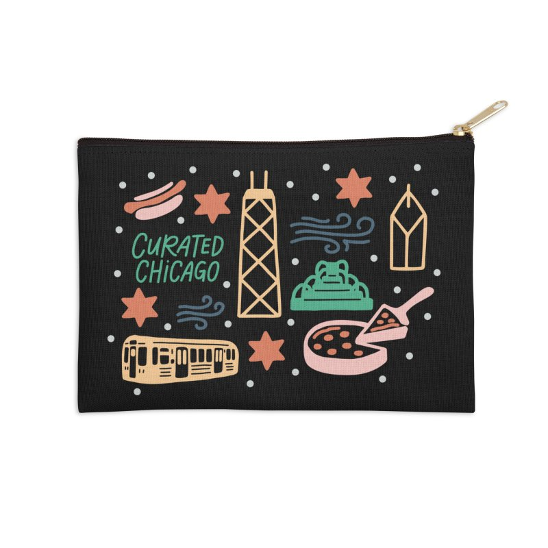 Curated Chicago City Scene color Accessories Zip Pouch by curatedchicago's Artist Shop
