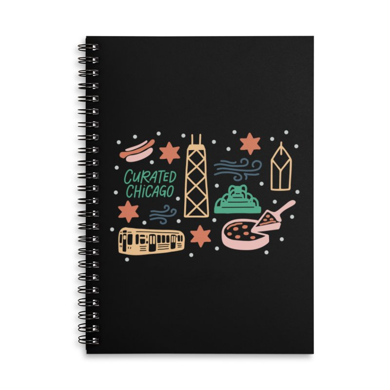 Curated Chicago City Scene color Accessories Notebook by curatedchicago's Artist Shop