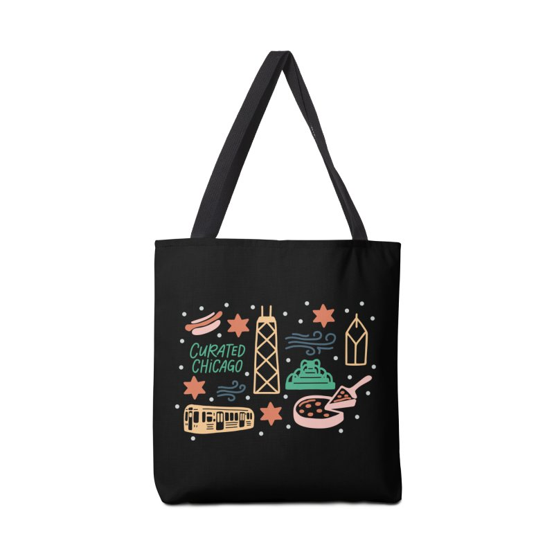 Curated Chicago City Scene color Accessories Bag by curatedchicago's Artist Shop