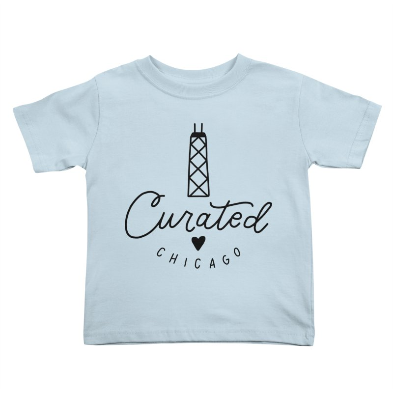 Curated Chicago Logo Kids Toddler T-Shirt by curatedchicago's Artist Shop