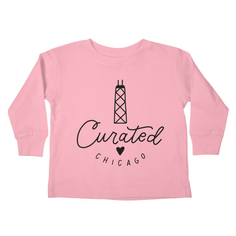 Curated Chicago Logo Kids Toddler Longsleeve T-Shirt by curatedchicago's Artist Shop