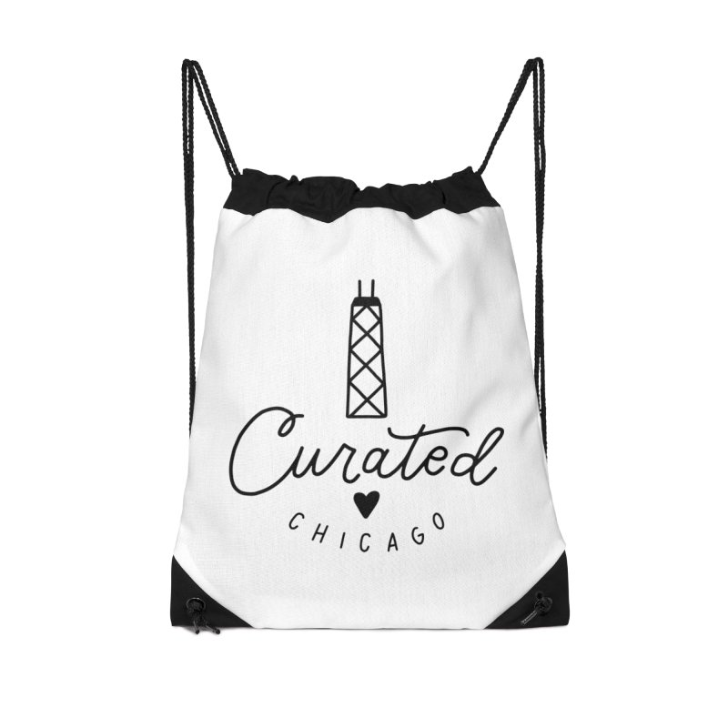 Curated Chicago Logo Accessories Bag by curatedchicago's Artist Shop