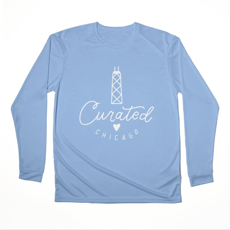 Curated Chicago Logo white Women's Longsleeve T-Shirt by curatedchicago's Artist Shop