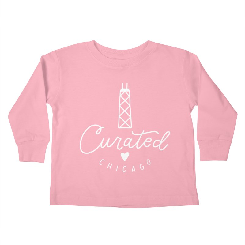 Curated Chicago Logo white Kids Toddler Longsleeve T-Shirt by curatedchicago's Artist Shop
