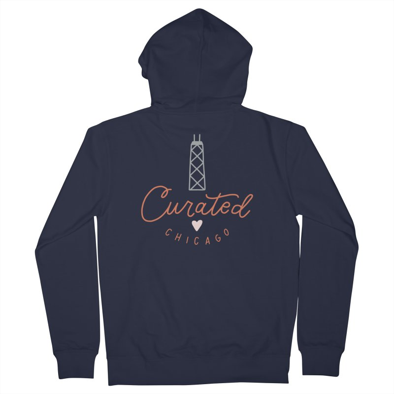 Curated Chicago Logo color Women's Zip-Up Hoody by curatedchicago's Artist Shop