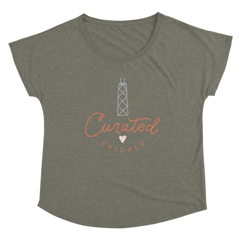 Curated Chicago Logo color Women's Scoop Neck by curatedchicago's Artist Shop