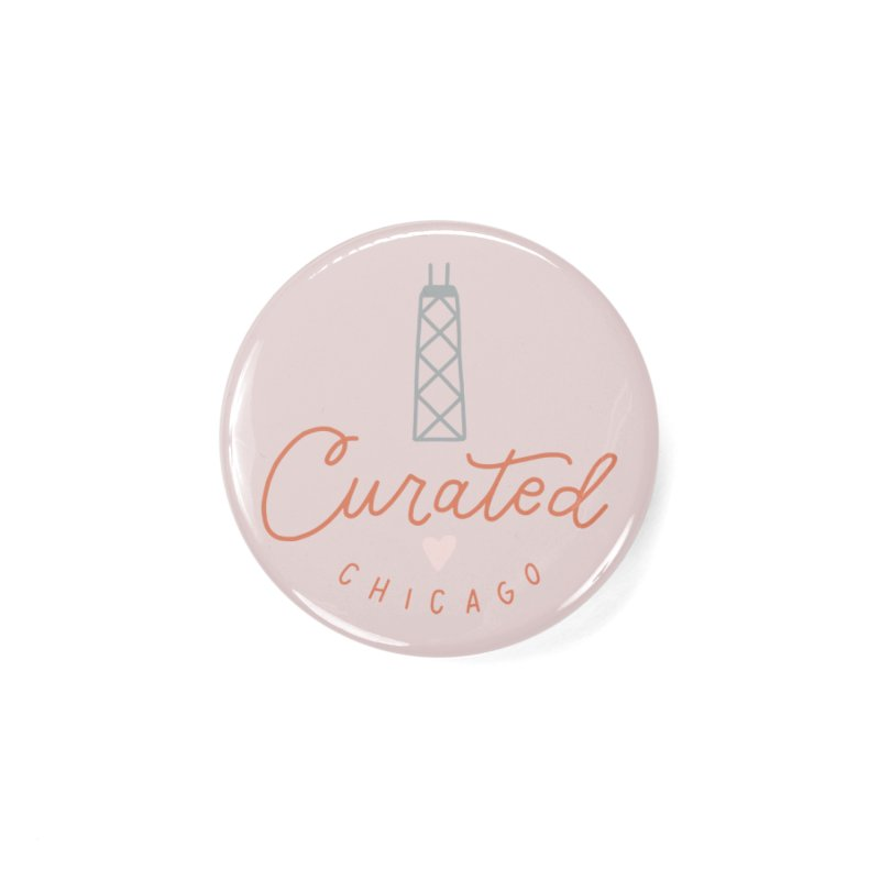 Curated Chicago Logo color Accessories Button by curatedchicago's Artist Shop