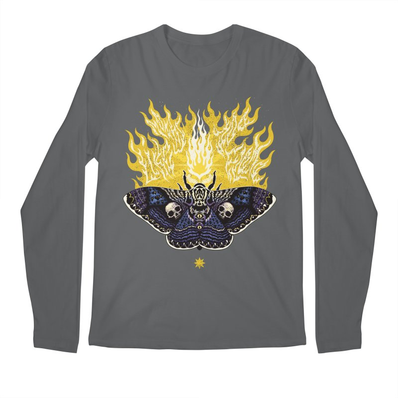 Like Moths to a Flame Men's Longsleeve T-Shirt by Curiosity Supply Co.
