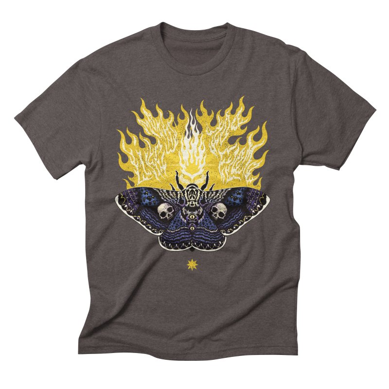 Like Moths to a Flame Men's Triblend T-shirt by Curiosity Supply Co.