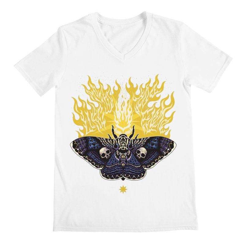 Like Moths to a Flame Men's V-Neck by Curiosity Supply Co.