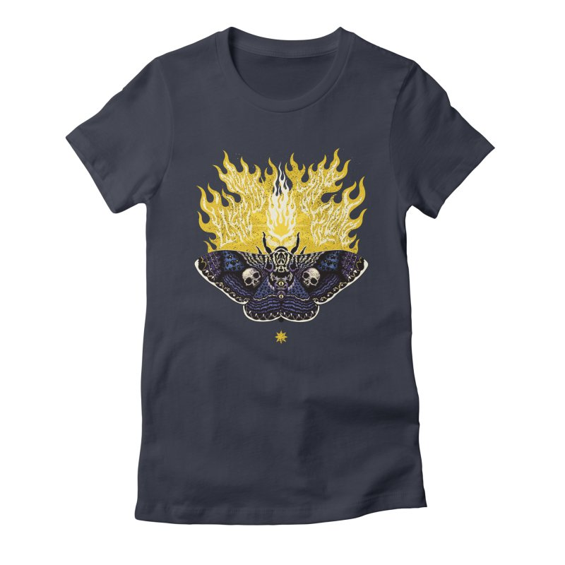 Like Moths to a Flame Women's Fitted T-Shirt by Curiosity Supply Co.