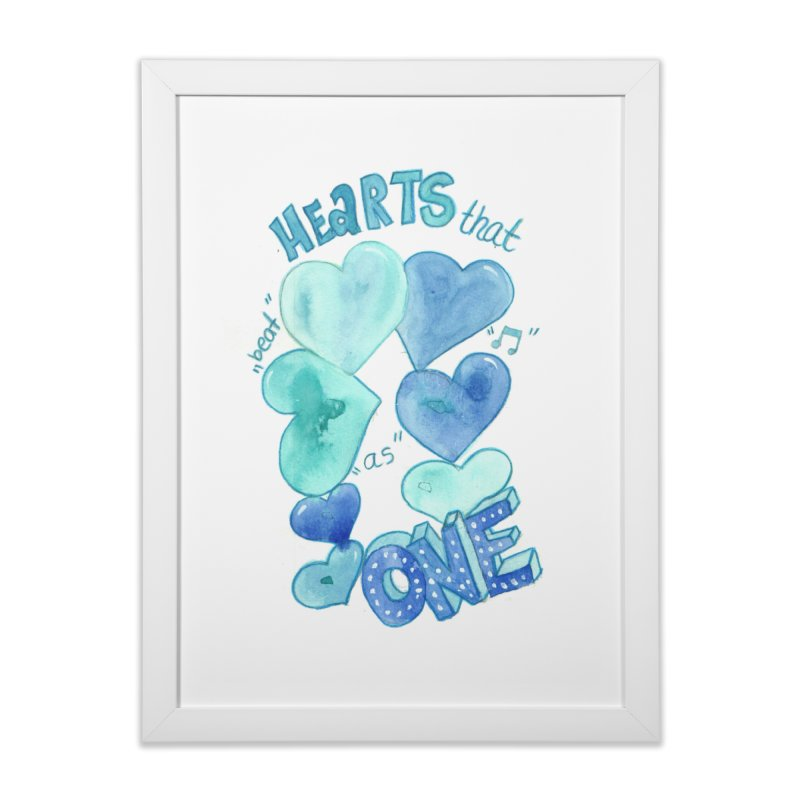 beat as one in Framed Fine Art Print White by