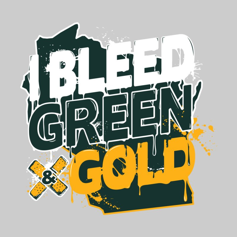 I Bleed Green & Gold Men's T-Shirt by Curly & Co.